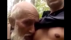 Desi muslim gay daddy suck nipple in public