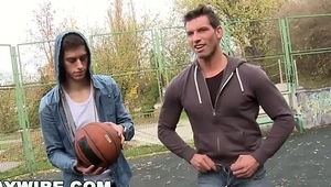 GAYWIRE - Marek &amp_ Johnny Have Anal Sex In Public After Playing Basketball