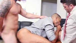 Office gays get down to anal fucking