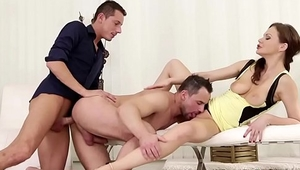 Pornstar Tina Kay in MMF threesome with bisexuals