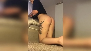 Cute twink in thongs Teddy Lane anal plays solo on cam