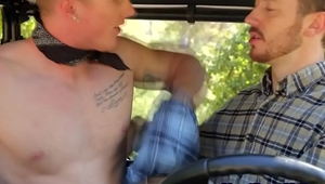 Hot gay farmers outdoor bareback fucking
