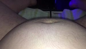 Fat pig getting machine fucked in hairy pussy