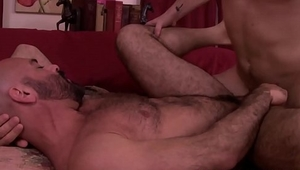 Bald hunky stepdad ass fucked by young jock stepson