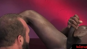 Ebony stud enjoys getting fisted by top hunk