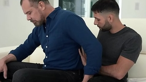 FamilyDick - Young Stepson Sucks His Burly Stepdad Into Orgasmic Ecstasy