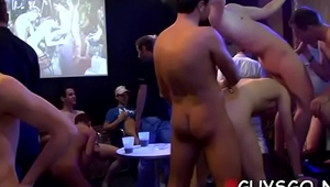 Gay orgy with hundred fellows