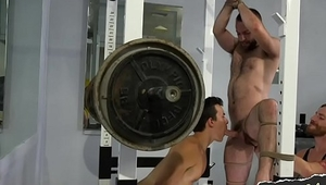 BDSM sub edged and punished in threeway