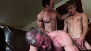 Threesome dad and boy