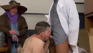 Office stud gets an assfull of cock
