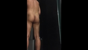 Stirling Cooper Jerking Off Shower Compilation - Ass Spreading with Cumshot