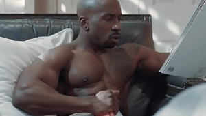 White hunk sucks his black gay step cousin'_s bbc - gay interracial sex