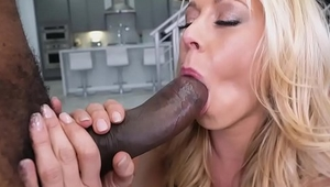 Charming Voice Leather Queen Katie Morgan Can'_t Wait to Handle that Monster Black Cock