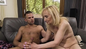 Blonde Cock Hungry Nanney takes her Daughter'_s Boyfriend Vince Carter for a Spin