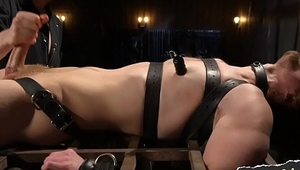Bondage gay sucked off after hes restrained